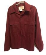 Vtg FILSON GARMENT 100% Virgin Wool Jacket Shirt Size Large Brick Red Se... - $81.18