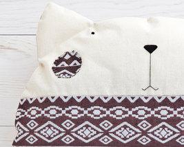 Cat pillow Brown Decorative Pillow Tribal Child... - $28.50
