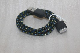 3FT Black braid Micro USB 3.0 Sync Data Charging Cable for Samsung Galax... - $5.89
