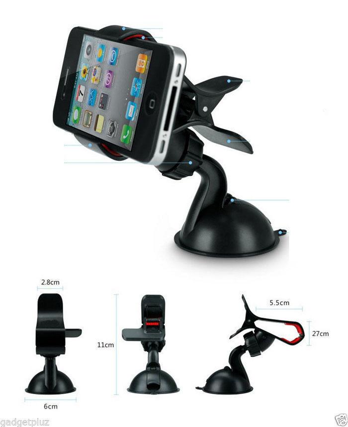 360 Rotating Car Windshield Mount Phone Car Holder for LG G Stylo