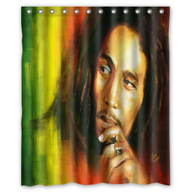 Bob Marley Rastafara #02 Shower Curtain Waterproof Made From Polyester