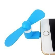 Blue Portable Super Mute Lightning USB Mini Fan Cooler For Apple Iphone ... - £4.26 GBP