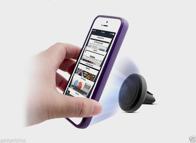 MAGNETIC AIR MOUNT CLIP AIR VENT CAR HOLDER FOR SAMSUNG GALAXY S6 Edge Plus image 8
