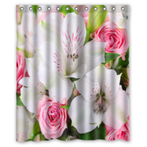 Bouquet Of Flower #01 Shower Curtain Waterproof Made From Polyester - $29.07+