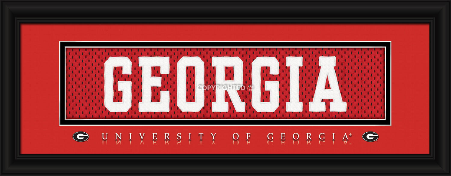 University of Georgia Officially Licensed Stitched Jersey Framed Print-3 Designs