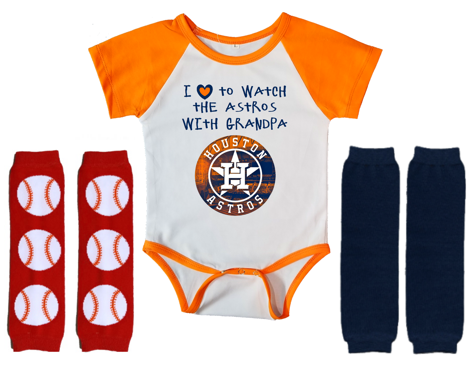 Primary image for Houston Astros Onesie Infant Bodysuit Watch With Grandpa