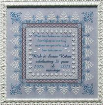 Love Everlasting wedding anniversary cross stitch chart Praiseworthy Stitches - $12.60