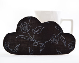 Cloud Fabric Drink Coaster Black Kitchen Accessory Housewarming Gifts Se... - $17.00
