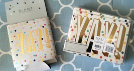 "SLANT ""YAY!"" ""HAPPY BIRTHDAY"" Note Cards W/ Env. (10) & CAN COVER - $8.59"