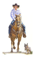 "AMERICAN COWGIRLS DECOR ART - Signature Series Giclee Print - "" AMBERLEY ""  - $195.00"