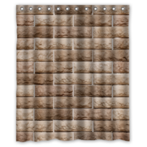 Bricks Texture #03 Shower Curtain Waterproof Made From Polyester - $29.07+