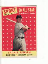 1958 Topps Baseball Card#489 Jackie Jensen Vgex++ No Creases Red Sox Star - $3.27
