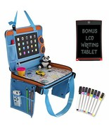 Car Seat Organizer for Kids Travel Tray Bundle with LCD Writing Tablet -... - $36.75