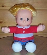 "Little People Eddie Fisher-Price Cloth & Vinyl 11"" Blonde Boy Perfect Pl... - $6.89"