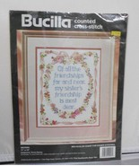 "Vintage Bucilla Counted Cross-Stitch 40926 Sisters Needlecraft Kit 11""x14"" - $15.17"