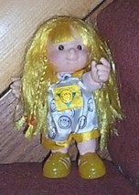 "Little People Cloth & Vinyl 7"" Blonde Sarah Lynn Doll in Smiley Face Rom... - $4.79"