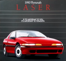 1989/1990 Plymouth LASER sales brochure catalog 1st Edition US 90 RS TURBO - $10.00