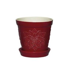 Andrea by Sadek Small Red Holiday Planter - Red... - $18.70