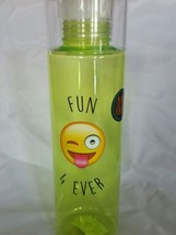 Live, Drink and Emoji Water Bottle with Screw on Top Tritan BPA Free 24 oz - £5.96 GBP