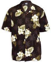 Hibiscus and Palms Island Tropical Shirt, BLACK, MEDIUM - $39.95