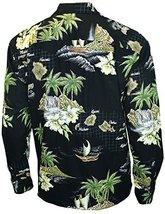 Long Sleeve Shirt Hawaiian Islands Paradise Navigator, XLarge, black - $65.00