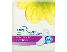 "Tena Serenity InstaDry Heavy 13"" Length Bladder Control Adult Pads 12/Pa... - $15.95"