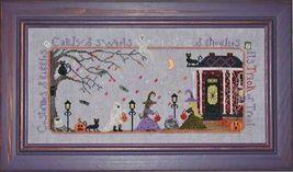 Trick or Treat halloween cross stitch chart Praiseworthy Stitches - $10.80