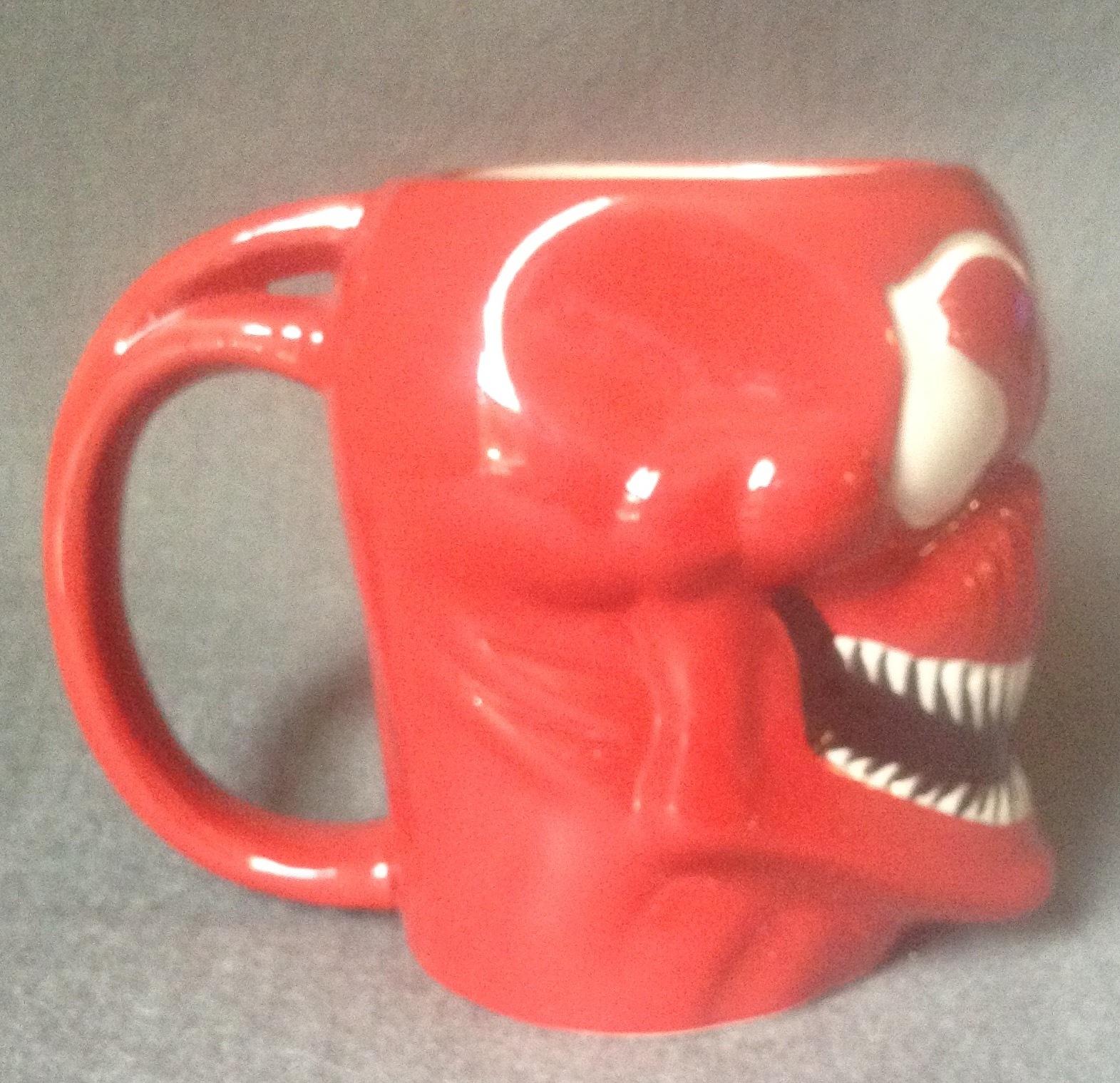 Marvel Spider-Man's Comic Book Villain Carnage Ceramic Red Coffee Mug 16 oz.