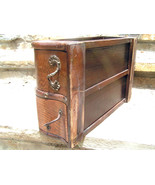 Old Wooden Treadle Sewing Machine Drawers WITH ... - $99.98