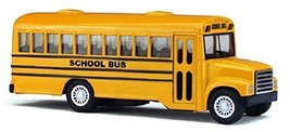 "5"" Die Cast Long-Nose School Bus with Pull-Back Action - $7.75"