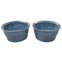 2 CorningWare Creations Stoneware 7 oz. Denim Blue Ramekin Custard Cups Dish - $23.36