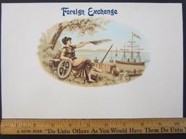 Vintage Original FOREIGN EXCHANGE Cigar Box Emb... - $11.60