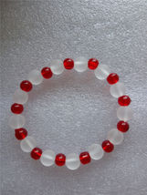 Red Glass Bead Elastic Bracelet C/S & H Available - $6.50