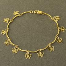 14 K Yellow Gf Butterfly Bracelet  - $3.50