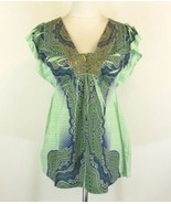 ONE WORLD Size M Empire Shimmer Tee Knit Top - $19.98