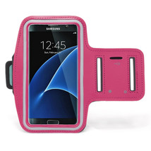 Sports Running Armband Case for Samsung Galaxy S7 - Hot Pink - $4.99