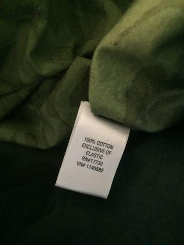 Green Boho Skirt XS Artsy Peasant Elastic Waist Cotton Unique