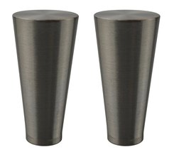 Urbanest Set of 2 Zario Lamp Finial, 2-inch Tall, Brushed Steel - $16.82