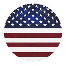 American Flag Tapestry Round Beach Towel Indian Throw Roundie Hippie Yog... - £16.91 GBP