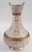 Signed NIV Mid Century Modern Bitossi Era White & Gold Lava Genie Bottle... - $94.00
