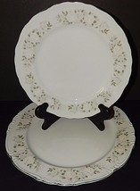 """Sheffield Fine China Classic 501 Japan 12"""" Platter and Dinner Plate Silv... - $39.59"""
