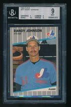 1989 Fleer rc #381 Randy Johnson BGS 9 Mint  Expos HOF - $20.00