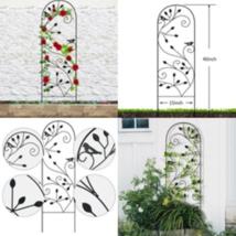 Metal Garden Trellis Iron Wire Grid Scroll Lattice Planter Finial Panels... - $20.18