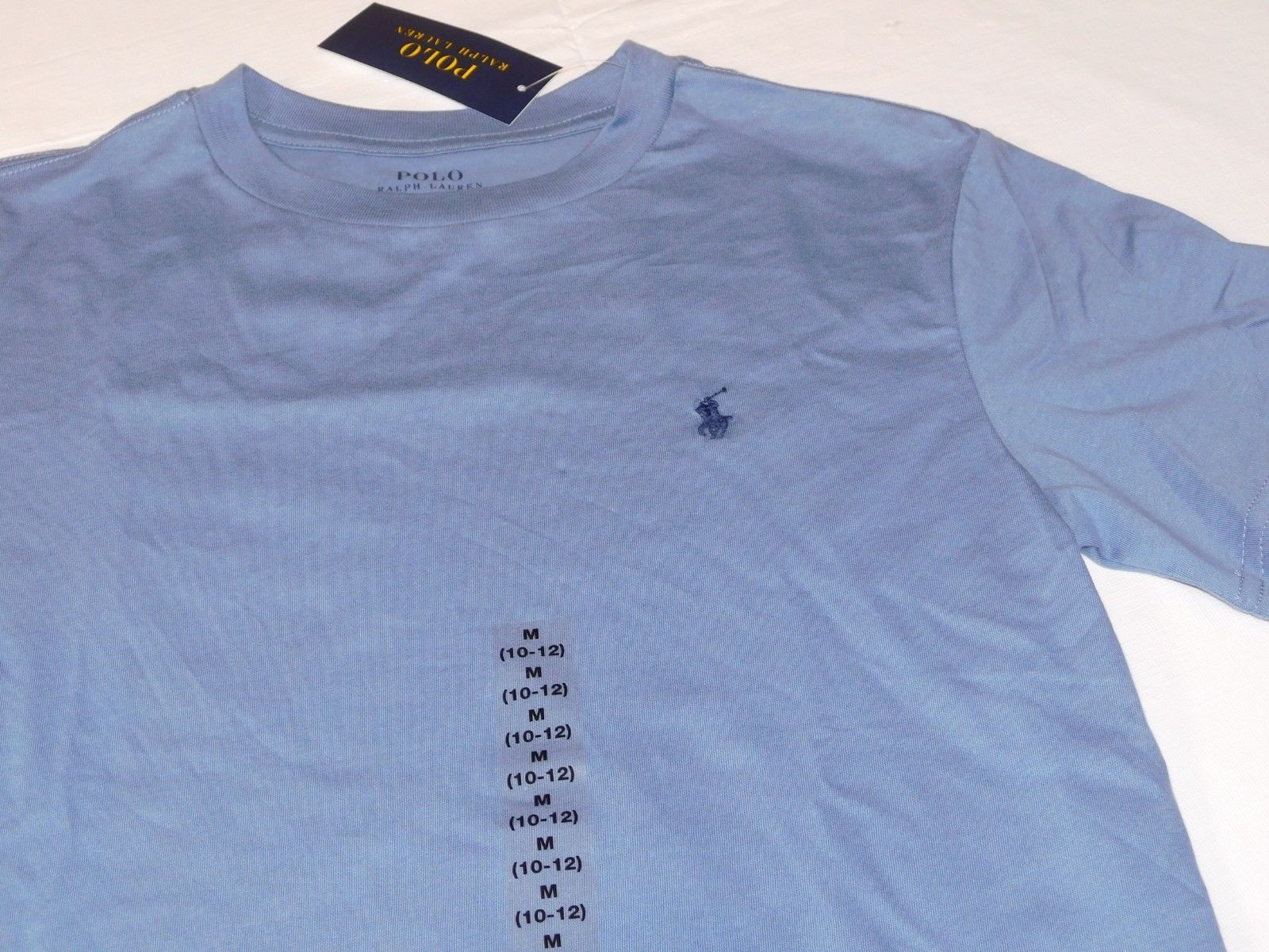 Polo Ralph Lauren Boys Youth Short Sleeve T Shirt M 10-12 Blue 638005 NWT