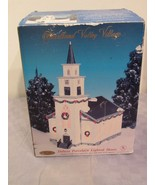 Deluxe Porcelain Lighted Church  Heartland Valley Village Country Christmas - $48.54