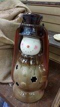 Snowman Lantern, Ceramic - $39.99