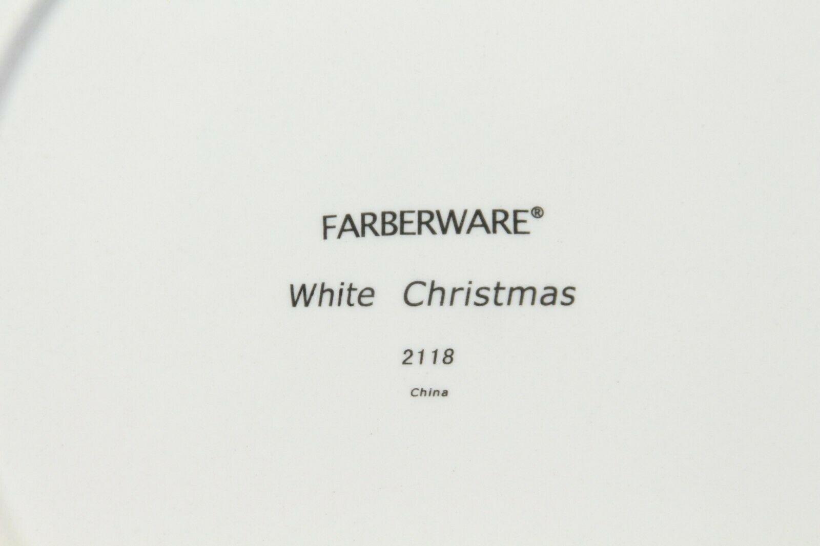 """Farberware White Christmas 2118 Dinner Plates 10.5"""" Lot of 8 image 5"""