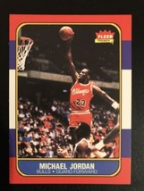 1986-1987 Fleer - Michael Jordan - Chicago Bulls - REPRINT - RC  - $2.96