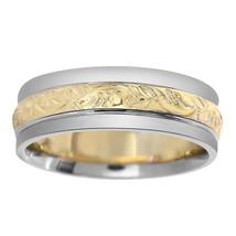 6.00mm 14K Two-Tone Gold Ladies Wedding Band - $375.21