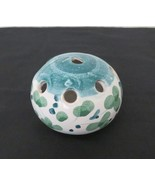Vintage Hand Painted Pottery Frog Blue White Floral Made in Italy Signed... - $29.65